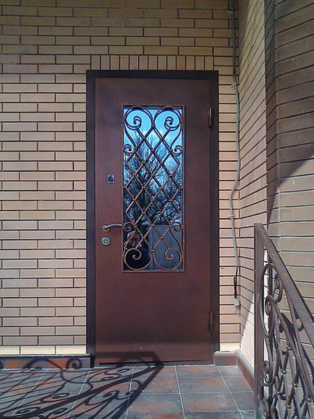 дверь металлическая входная остекленная цена