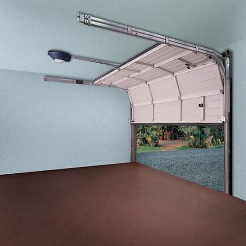 Подъемные складные ворота в гараж 81