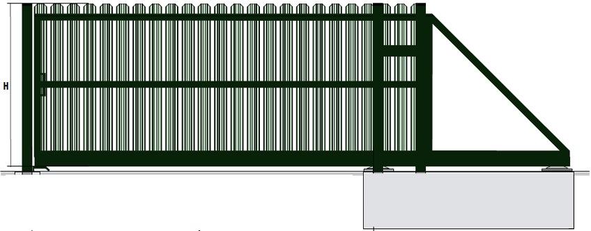 откатные ворота столб из металла