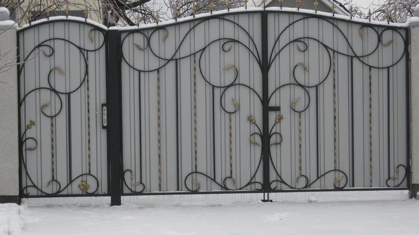 Ворота кованые своими руками чертежи фото и видео
